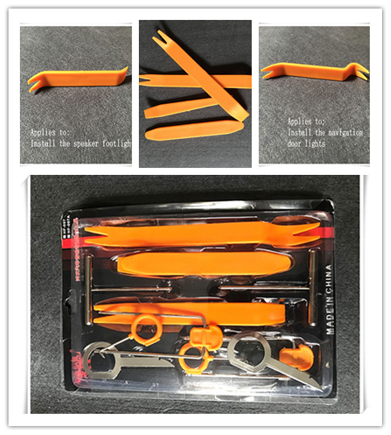 12pcs Car <font><b>Radio</b></font> Door Clip Panel Trim Dash Audio Installer Pry Tool For <font><b>Volvo</b></font> C30 <font><b>C70</b></font> S60L S90 V40 V60 XC60 XC90 S80L Accessories image