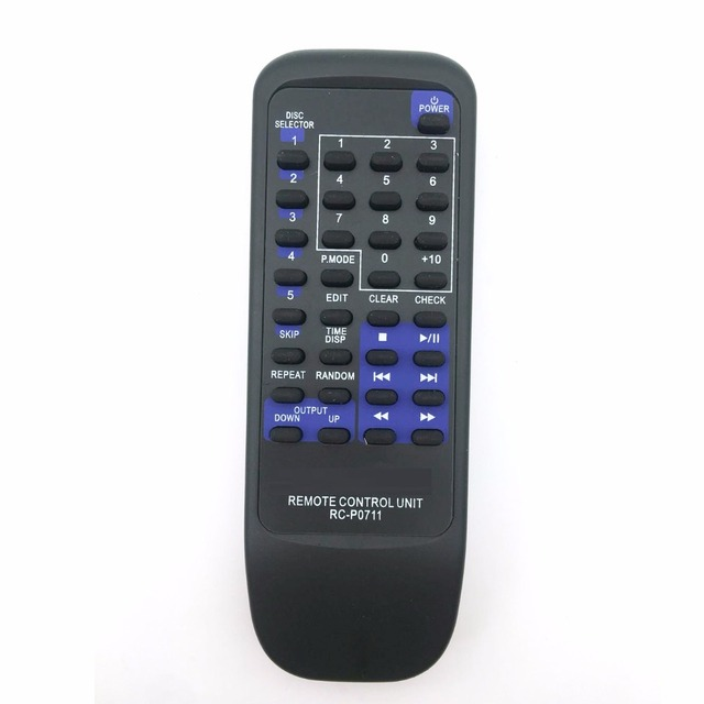 New Replacement For KENWOOD Audio System Disc Remote Control RC P0711 CD403 CD404 CD406 CD423U DPFR4030 DPFR6030 RCP0711