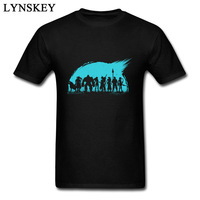 Stylish Final Game Fantasy Group Men T Shirt Design Japan Style Cool Teens Tee Shirts Cotton