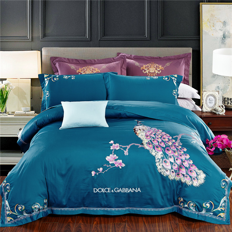 DIFUNINA 60S High Quality Bedding Sets Luxury Embroidery Bedclothes Include Duvet Cover Pillowcase Bed Sheet Bedding Linen  DIFUNINA 60S High Quality Bedding Sets Luxury Embroidery Bedclothes Include Duvet Cover Pillowcase Bed Sheet Bedding Linen