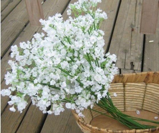 Artificial Plastic FlowerGypsophilaBabys Breath66 Flower Heads Piece Wedding