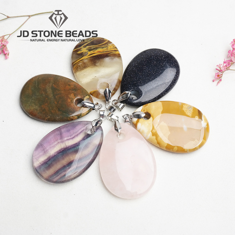Free Shipping Natural Drop Shape Pendant Personalized Fashion Hand-made Jewelry Ornament
