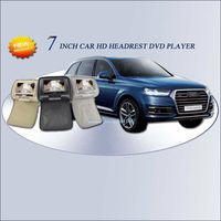 BigBigRoad For Audi Q7 Q5 Q3 A4L A6L A8L 2*7 inch car headrest dvd monitor player LCD Digital Screen zipper Car DVD