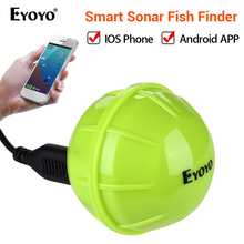Eyoyo E1 Wireless Fish Finder Portable Sonar Sensor Echo Sounder Bluetooth Depth Sea Lake Fish Detect Device iOS Android bluetooth fish detector 125khz sonar sensor wireless sonar portable fish finder sensor echo sounder detector alarm accessories