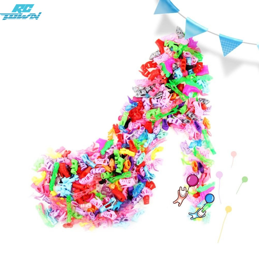 120 Pack Barbie Doll Party Shoes 60 Pairs Fashion Heels Cute Gift for Girls New