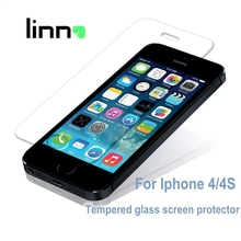 Premium Tempered glass Screen Protector For iPhone 4 4S Anti Shatter glass Film Free shipping