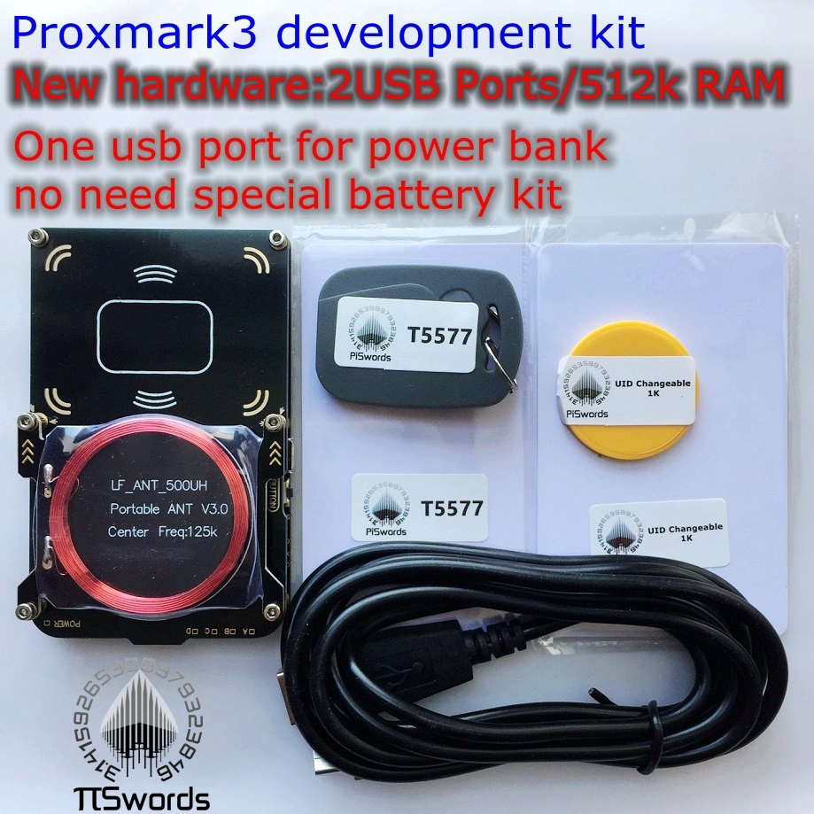 New proxmark3 develop suit Kits 3.0 proxmark RDV4 NFC RFID reader writer for rfid nfc card copier clone crack 2 USB port 512K(China)
