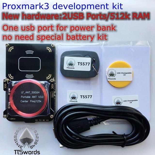 New proxmark3 develop suit Kits 3.0 proxmark RDV4 NFC RFID reader writer for rfid nfc card copier clone crack 2 USB port 512K