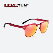 JIANGTUN Classic Aluminum Magnesium Sunglasses Polarized Men Brand Designer Sun Glasses Women Men Sunglass Polaroid Gafas