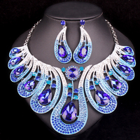 Fashion Bridal Jewelry Sets Wedding Necklace Earrings For Brides Party Accessories Statement Jewellery Costume Decoration Women