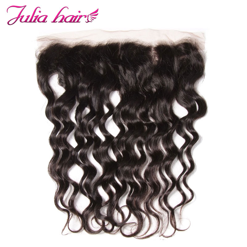 Ali Julia Hair Brazilian Lace Frontal Closure 4 13 Inch Ear to Ear Natural Wave Remy
