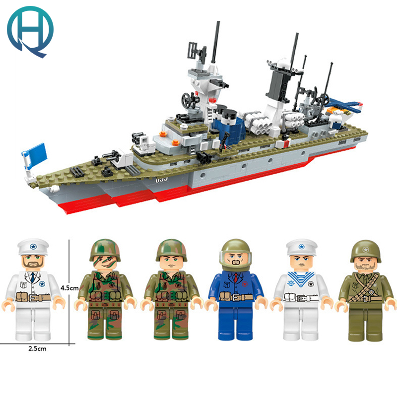 XIPOO 6 IN 1 Blue Whale BattleCruisers Ship DIY Model Building Blocks Bricks Sets Educational Gift Toys for Children Boy Friends xipoo 6 in 1 blue military ship diy model building blocks bricks sets educational gift toys for children boy friends