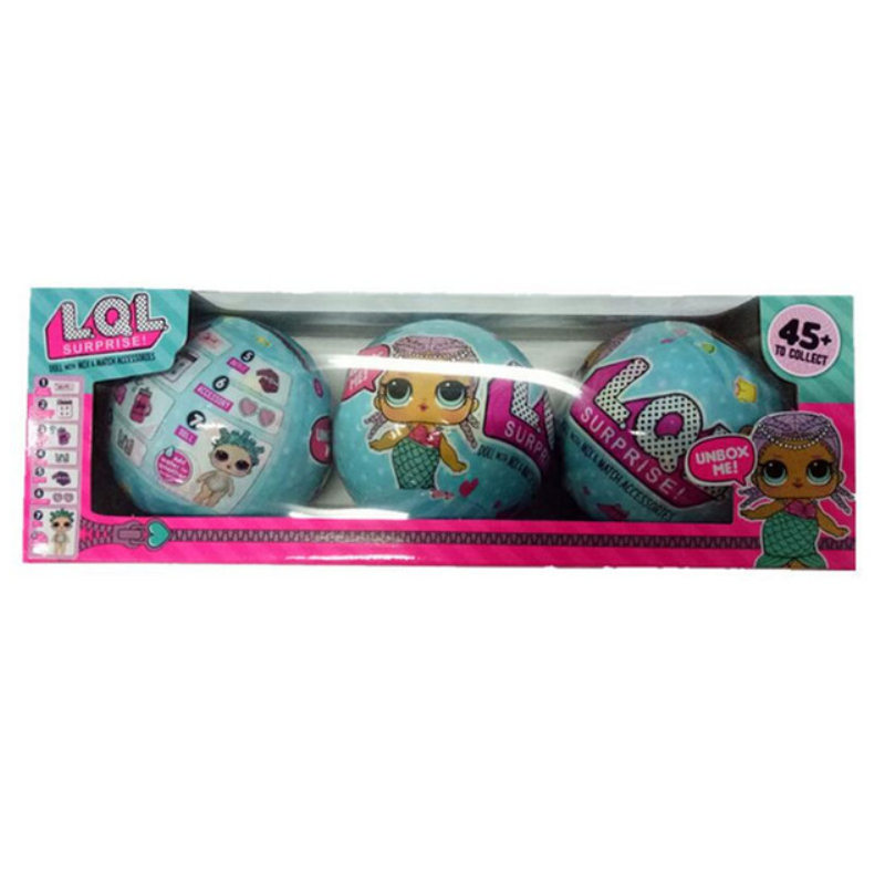 3pcs 2017 New 9cm LOL Surprise Doll Magic Funny Removable Egg Ball Doll Toy Surprise Dolls