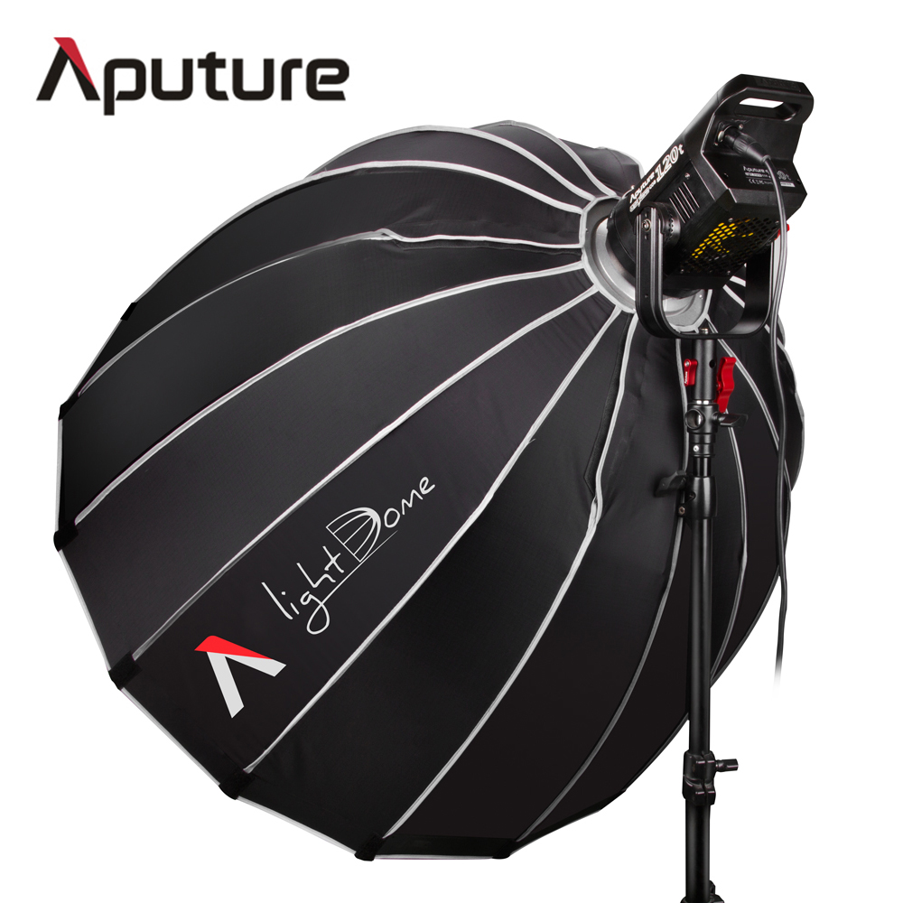 Aputure LS C120t +Light Dome Kit Studio Continuous lighting LED Panel light Photo TLCI/CRI 97 with Wireless Remote V-mount Plate aputure ls c300d cri 95 tlci 96 48000 lux 0 5m color temperature 5500k for filmmakers 2 4g remote aputure light dome mini page 6