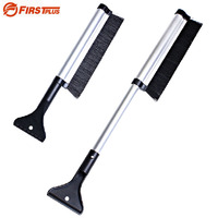 100 Brand 43 63cm Extendable Snowbrush With Ice Scraper For Car Windshield
