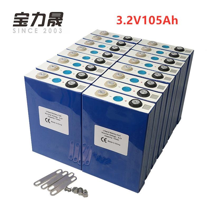 2019 NUOVO 16 PCS 3.2 V 100Ah lifepo4 CELLULA di batteria 12 V 24V36V 48 V 105Ah per EV RV batteria pacchetto fai da te solare UE STATI UNITI TASSA LIBERA di UPS o FedEx