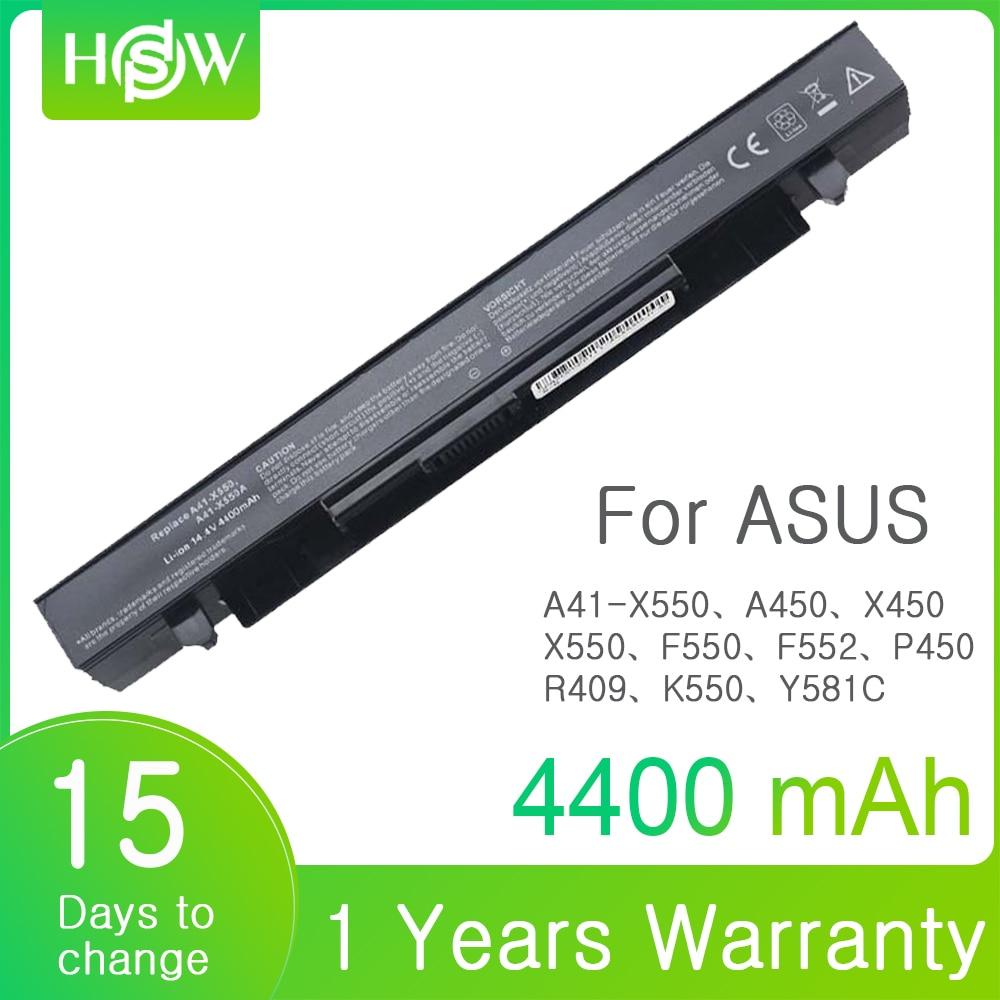4400mAh  A41-X550 Laptop Battery For Asus X550L X450 X450C R409CC X552E K5 X550V F552 K550 P450 P550 R409 R510 A450 A550 F450