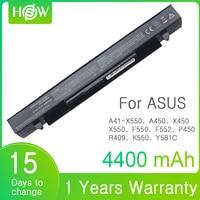 4400mAh A41 X550 Laptop Battery For Asus X550L X450 X450C R409CC X552E K5 X550V F552 K550 P450 P550 R409 R510 A450 A550 F450