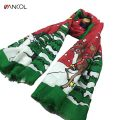Vancol Winter Scarf Men Gift 2016 Christmas Tree Snowflake Elk Deer Design Cotton Santa Claus Decor Scarf Female Christmas Scarf