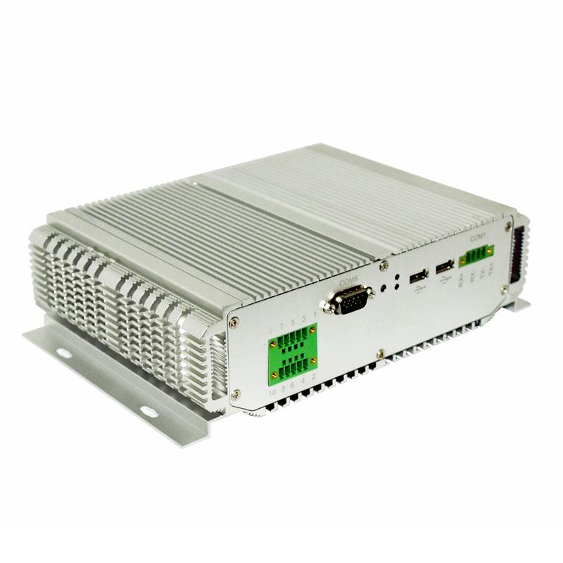Fanless Intel Nuc Industrial Mini PC Linux Intel Core I5 3317U 2 RJ45 LAN 6 COM Port Slim Computer