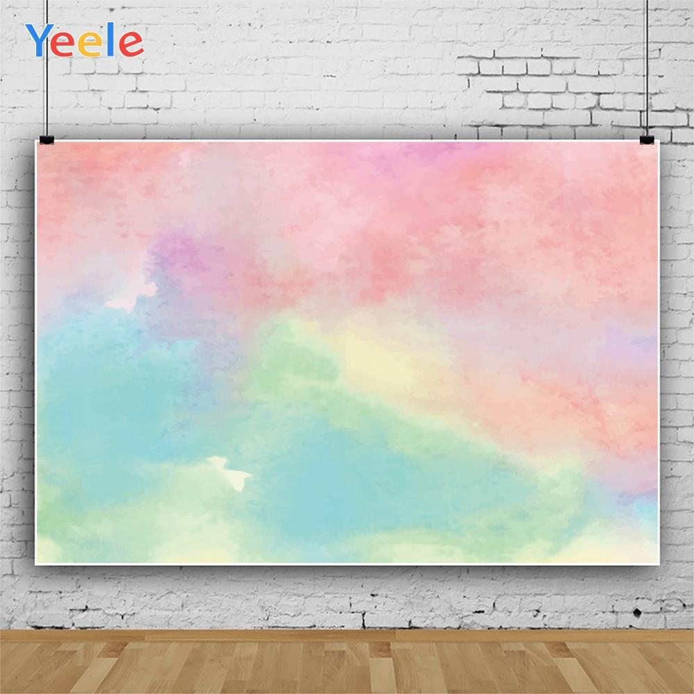 Yeele Gradient Abstract Cloud Sunset Baby Portrait Photography Backdrops Customized Photographic Backgrounds For Photos Studio