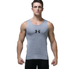 Quick-drying Running Training Sleeveless Shirts PRO men sports vest wicking tights Football Basketball Training Fitness GYM VEST