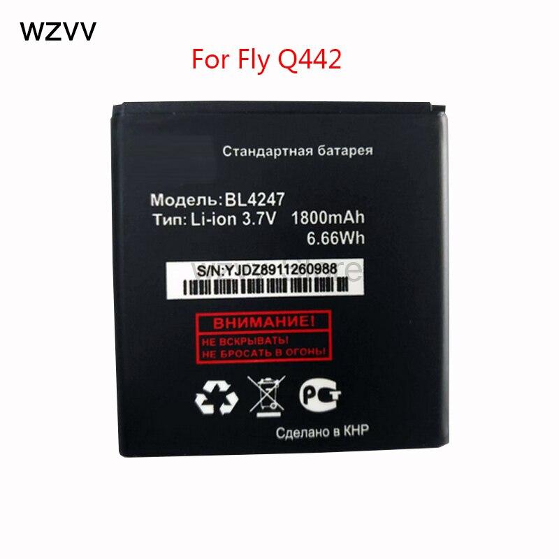 Wzvv Новый 1800 мАч <font><b>BL4247</b></font> батарея для Fly <font><b>IQ442</b></font> батареи + код отслеживания