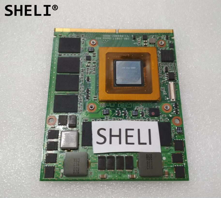 SHELI GTX 260M GTX260M VGA Video Graphics Card 1GB G92-751-B1 96RJ4 for Dell M15x M17x R1 180-10817-0000-A02 CN-096RJ4 nvidia gtx 260m 1gb 4wgvv video card for dell alienware m15x m17x r2 r3 m18 r1 r179t drop shipping