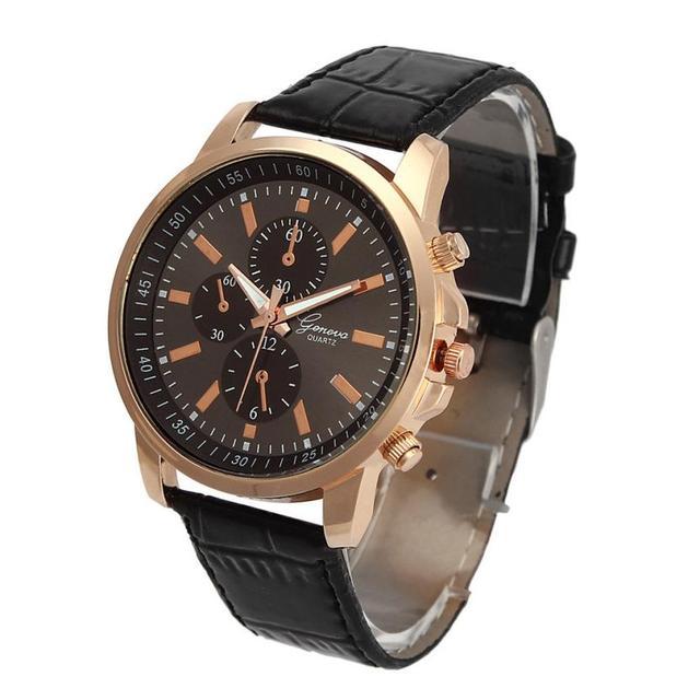 Women Men Wrist Watches Casual Geneva Faux Leather Quartz Analog reloj hombre ko