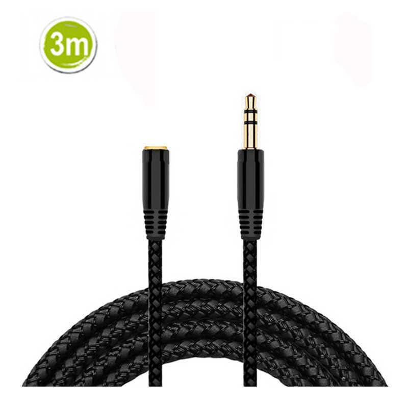 Przedłużacz kabla słuchawkowego 3.5mm Jack męski na żeński przewód AUX 3.5mm przedłużacz Audio do komputera odtwarzacz iPhone kabel samochodowy AUX