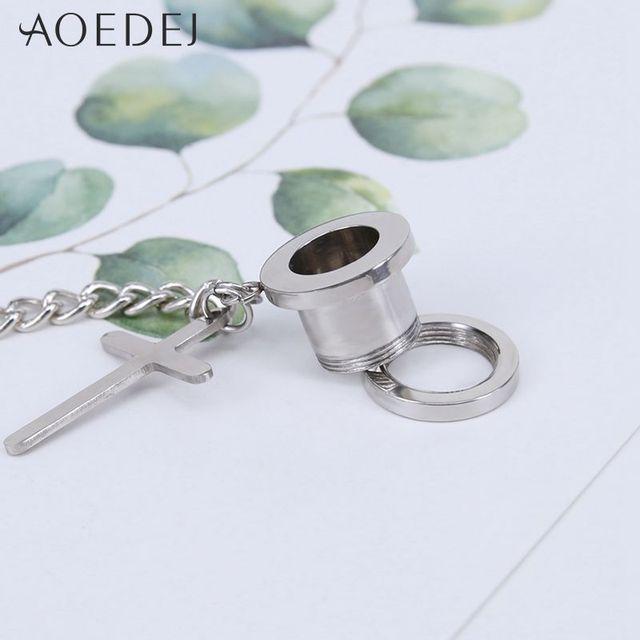 Купить штекер и туннель aoedej для пирсинга ушей штекеры из нержавеющей картинки