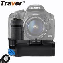 TRAVOR вертикальный Батарейная ручка для Canon EOS 500D 450D 1000D Камера Замена BG-E5 + пульт дистанционного управления как подарок