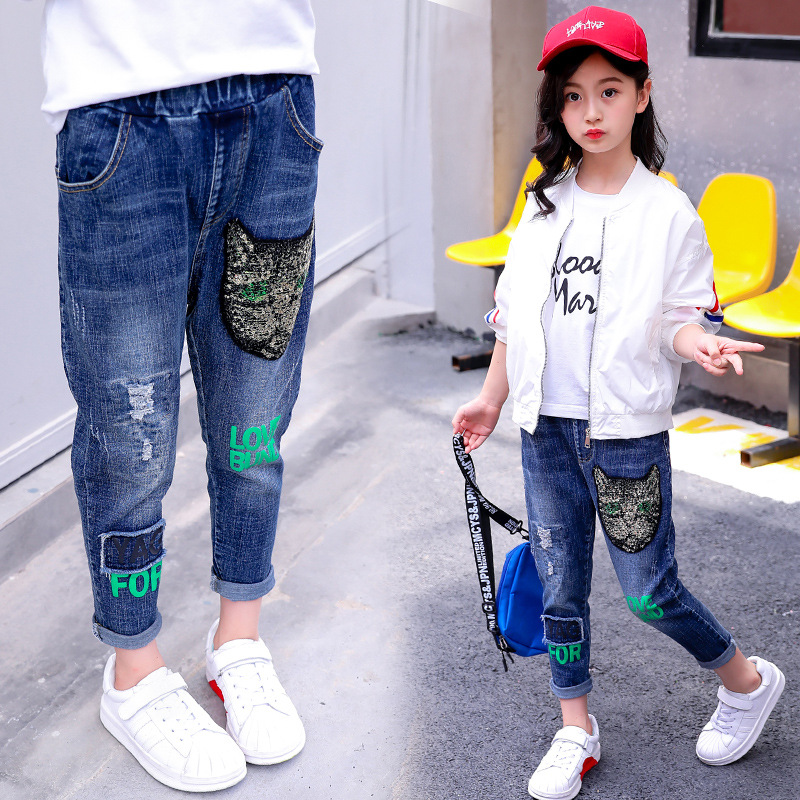 Girl 39 s jeans Spring 2019 all in one pants for kids in Jeans from Mother amp Kids
