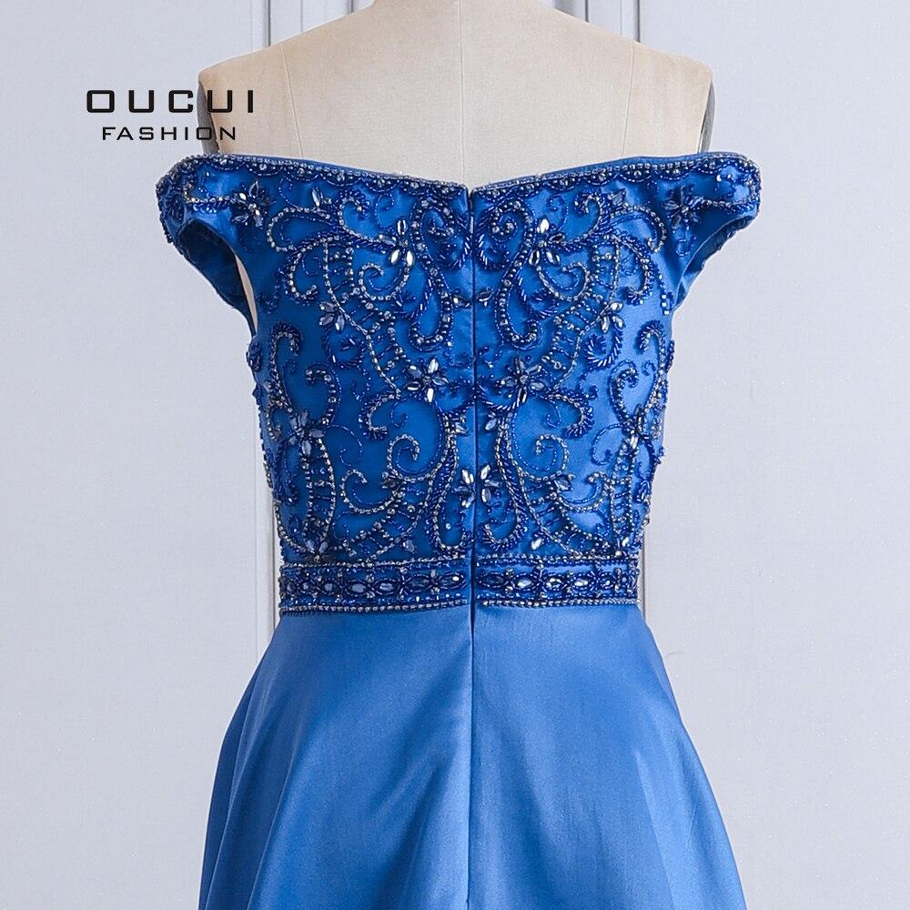 Sexy femmes longueur de plancher Style robe de soirée hors de l'épaule une ligne Occasions spéciales robes de bal OL103507 - 5
