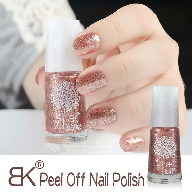 1pc Freeshipping BK Nail Polish water based peel off nail polish ...