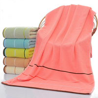 70*140cm 1PC Cotton Striped Bath Towel for Adults Thick Men Sport Beach Towel Bathroom Outdoor Travel Microfibra Sport Towel