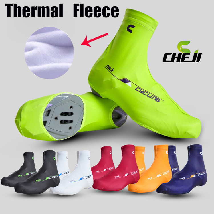 Hot Cheji Brand Quick-dry Winter Thermal Cycling Shoe Cover MTB Riding Bike Shoe Cover/Pro Road Racing Bicycle Shoecovers Warm
