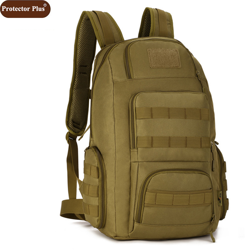 Protector Plus 40L Backpacks Double Shoulder Multifunction Women Bag Army Combination Package Travel Large Backpack Men