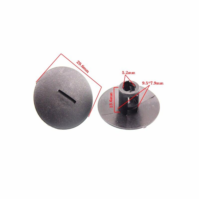 10 Stks Gestreept Tapijt Strap Clip Klem Voor Peugeot 408 307 206 Citroen C5 C2 Plastic Fastener Voor Snelle Verzending