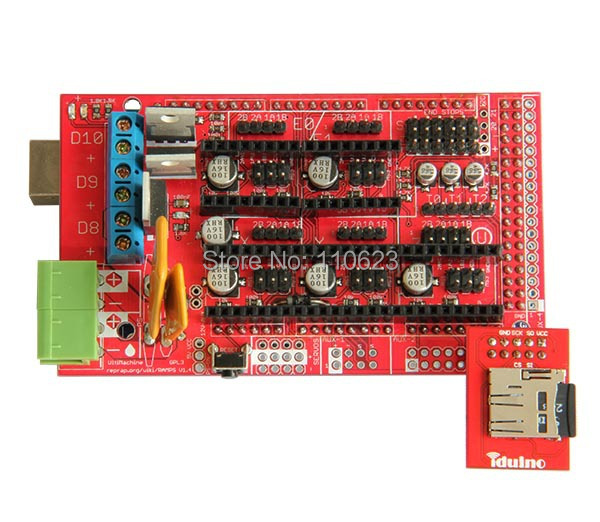 Kits complets de démarrage d'imprimante 3D Ramps1.4, LCD2004, heatbed MK2a, moteur pas à pas Nema17, pilote A4988, plaque d'aluminium - 4