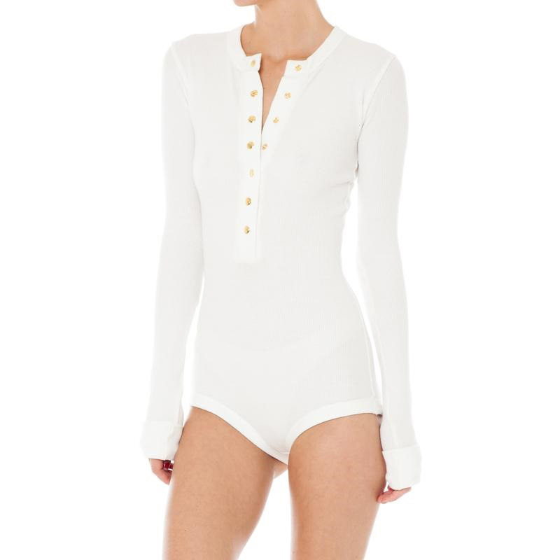FLYMALL 2018 Women Bodysuit Long Sleeve Skinny Slim Single-Breasted Rompers Ladies Sexy Body Suits For Evening Party Jumpsuit