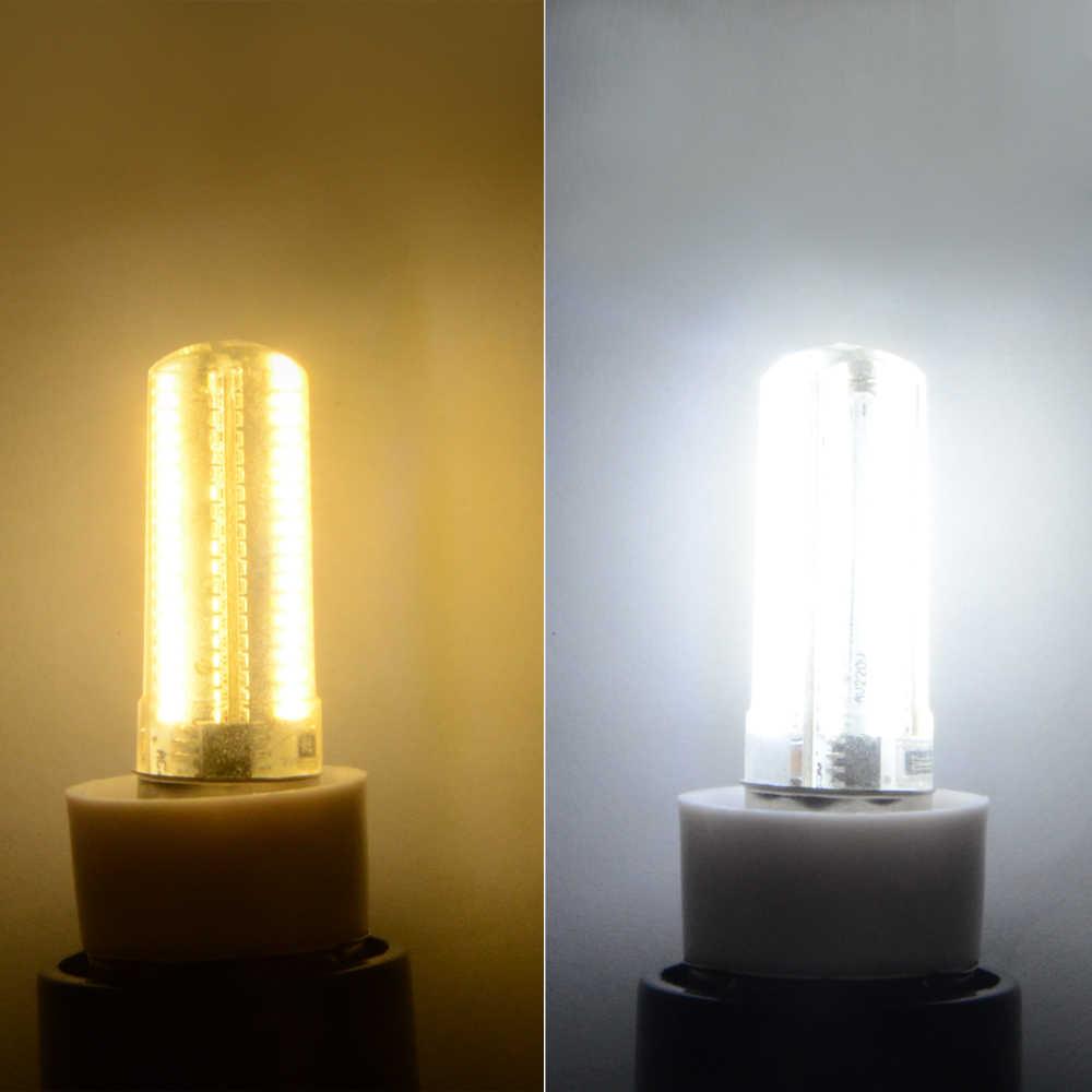 Foxanon Dimmable Led Light E11 E12 E14 E17 G9 110V 100V 152Leds Corn Bulb Silicone Lamps Crystal Candle For Chandeliers Lighting