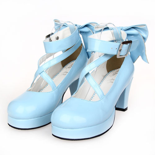 Douce forme multi Lolilloliyoyo Princesse Robe An9803 Ciel Shose Lolita Arc Plate Antaina Cosplay Chaussures Pu qUzVMSp