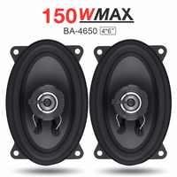 2 uds 4x6 pulgadas 150W coche altavoz coche HiFi Audio rango completo frecuencia Coaxial altavoz Auto alto altavoz