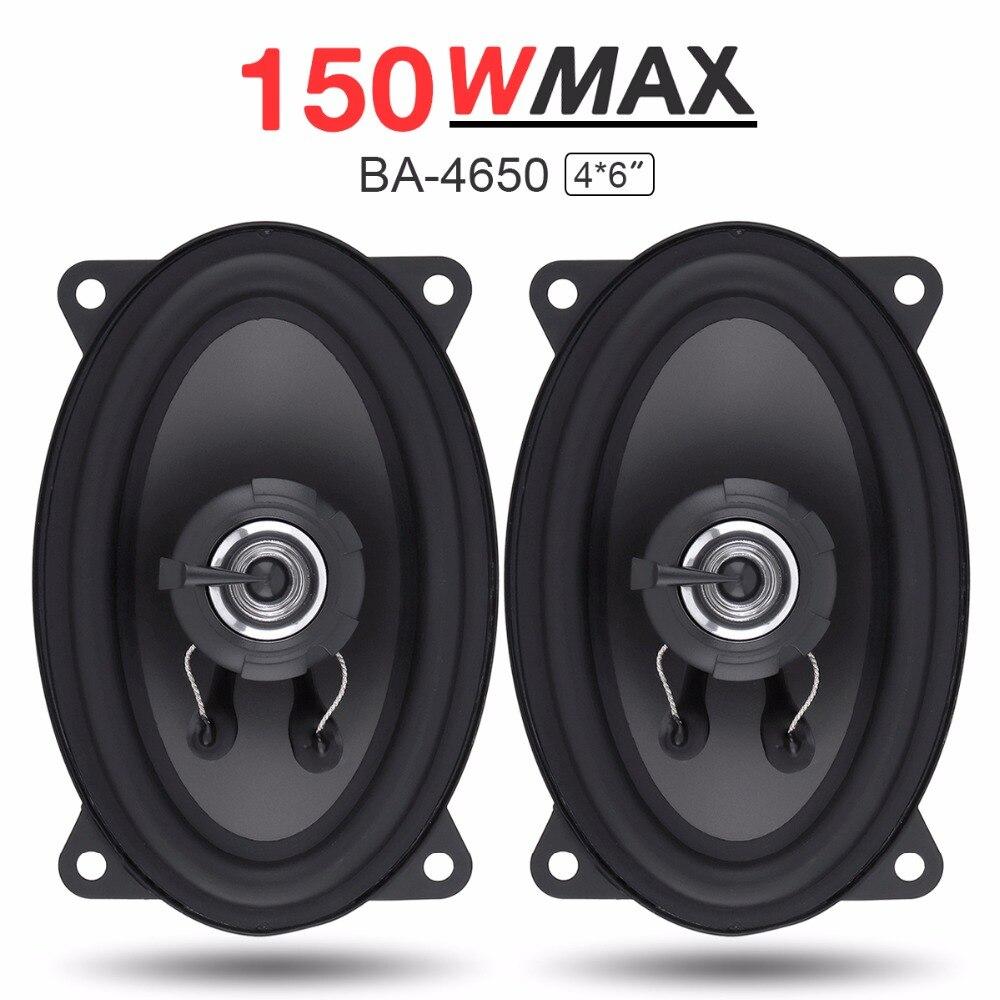 2pcs 4x6 Inch 150W Car Speaker Automobile Car HiFi Audio Full Range Frequency Coaxial Speaker Auto High Pitch Loudspeaker