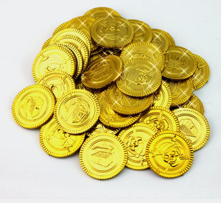 720 Pirate Gold Coins Plastic Birthday Party Favors Pinata Money Coin Loot