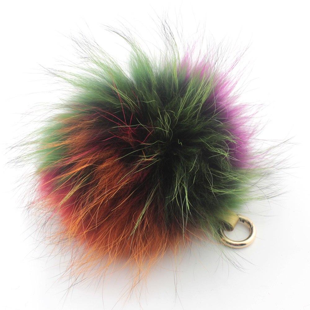 Charme Renard Raton Laveur boule De Fourrure porte-clés avec anneau d'or/fourrure pom pom voiture porte-clés sac Accessoires Résultats