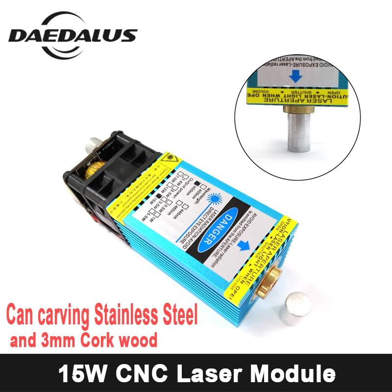 15 W Module Laser bleu-Violet à foyer fixe peut graver sur l'acier inoxydable 15000 mw bricolage gravure Machine graveur accessoire