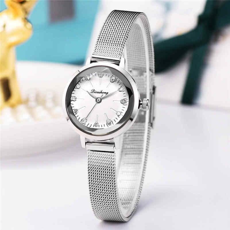 2018 הטוב ביותר למכור נשים שעונים אופנה קלאסי מכירה לוהטת יוקרה נירוסטה אנלוגי קוורץ שעוני יד relogio feminino AA4