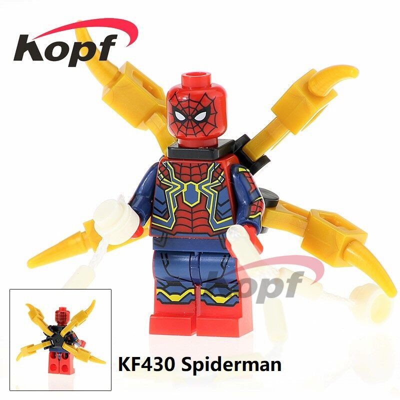 Super Heroes Single Sale Spider-Man Thanos Captain America Avengers INFINITY WAR Bricks Building Blocks Children Gift Toys KF430 pg8017 super heroes avengers movie scorpion sdcc captain america stan lee building blocks model children bricks toy